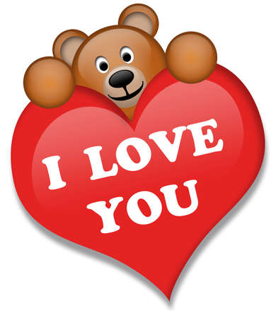 A brown bear with heart Stock Photo - 6165249