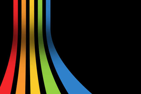 Some colorful strips with black background