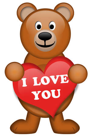 A brown bear with heart