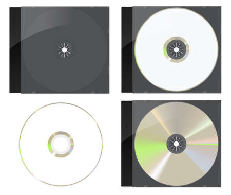 Black CD   DVD Cover Set