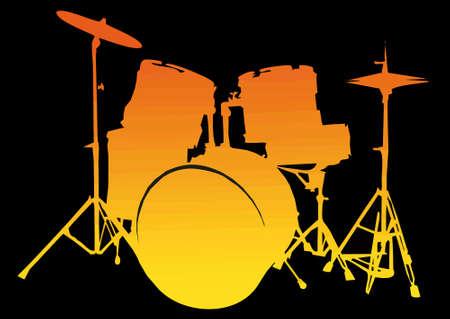 Drum-Set Stock Vector - 10331038