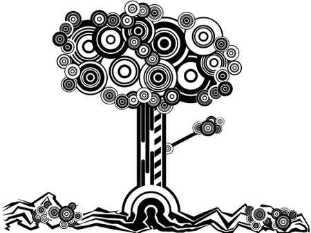 Circle-Tree Vector
