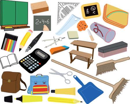Various school matters Stock Vector - 15477615