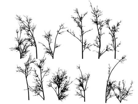 Some winter tree s Stock Vector - 15477618