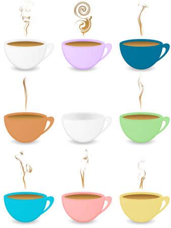coffeecup: Many colorful coffeecups