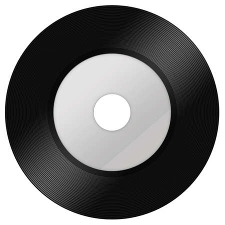 A black vinyl isolated Stock Photo