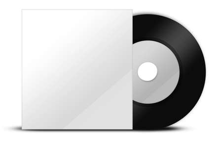 A black vinyl with paper cover photo