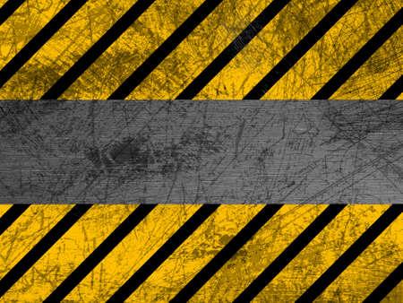Dirty metal texture - Industrial - Warning
