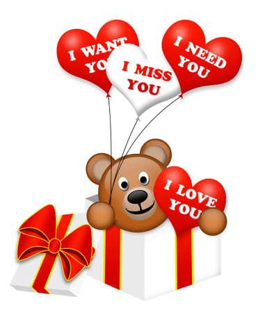 A nice bear in a present box