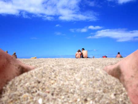 Beach, Sky and People