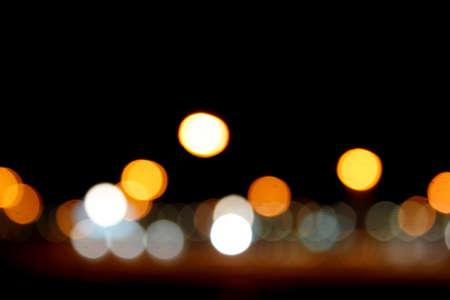 Bokeh circles at night