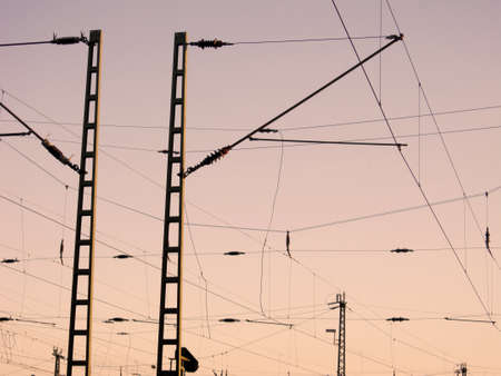 overhead: Railway Overhead Wiring - Power lines