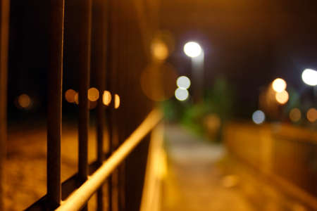 A danger street in the city at the night Stock Photo