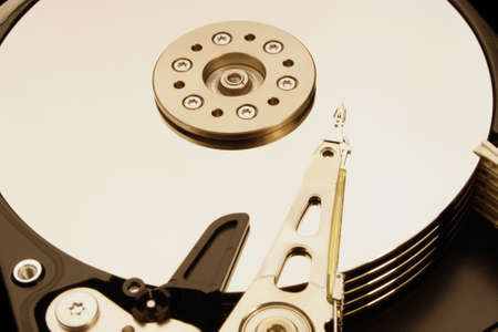 hard disk drive: HDD - Hard Disk Drive is open Stock Photo