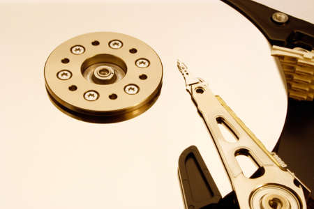 HDD - Hard Disk Drive is open Stock Photo