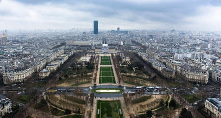 Paris from above - from the Eiffel Tower - Urban, Sky and buildings