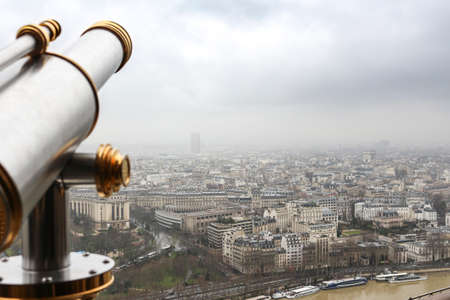 Paris from above - from the Eiffel Tower with telescope - Urban, Sky and buildings