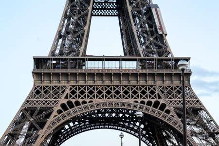 The Eiffel Tower in Paris, France Banco de Imagens