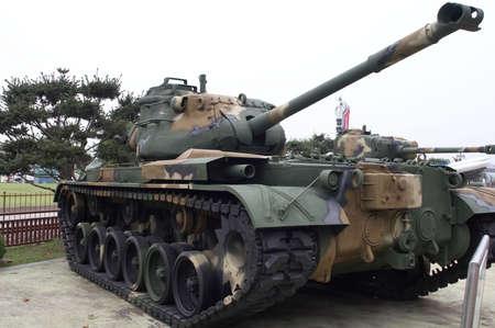 tanque de guerra: Este se utiliz� en la Guerra de Corea y est� ahora en exhibici�n est�tica cerca de la zona desmilitarizada de Corea
