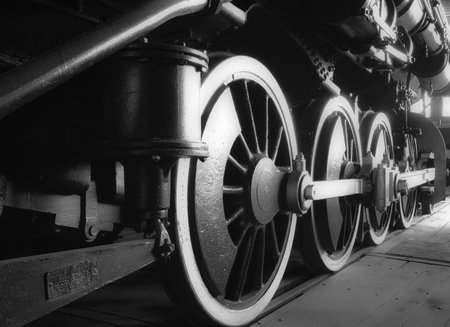 Closeup of Steam Engine Gears And Wheels Reklamní fotografie
