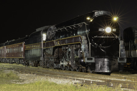 Norfolk   Western 611 Steam Engine At Night