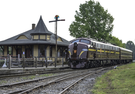 Pennsylvania Streamliner And Railroad Depot