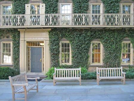 ivy league: University Building with Patio & Balcony
