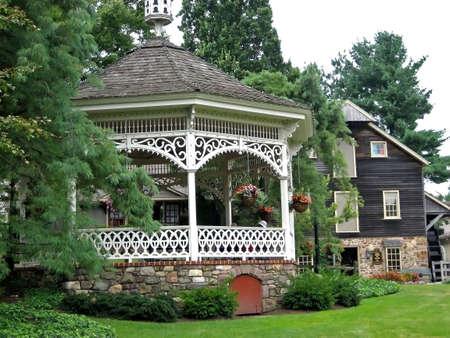 pavillion: Pavillion in quaint village shopping area.