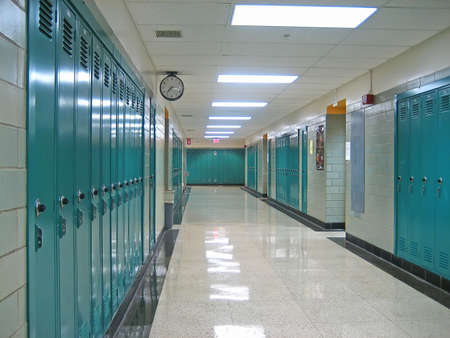 hallway: Empty Hallway in a Public School