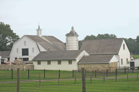 Farm House Complex with Barn.