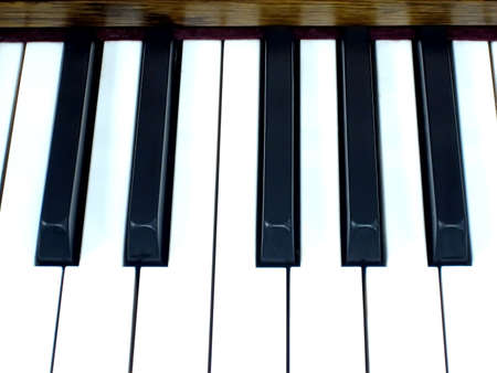 Close Up of One Octave of Piano Keys