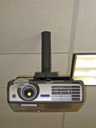 State of the Art Projector Mounted Upside-Down On the Ceiling