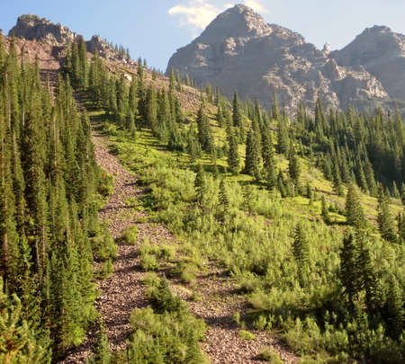 Steep path in the Rocky Mountains of Colorado
