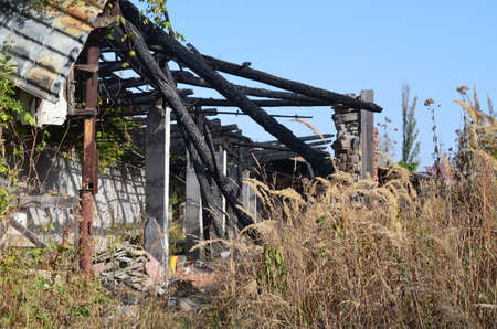 leavings: Ruins after fire