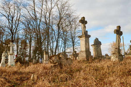 cemetery around Ternopil Stock Photo