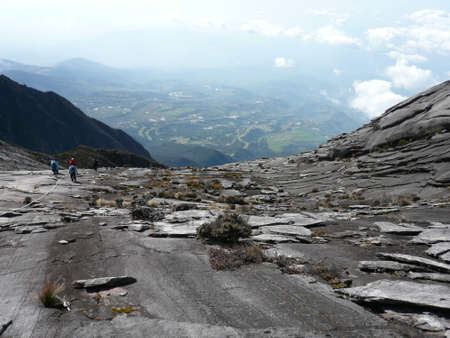 Descending Mount Kinabalu Stock Photo