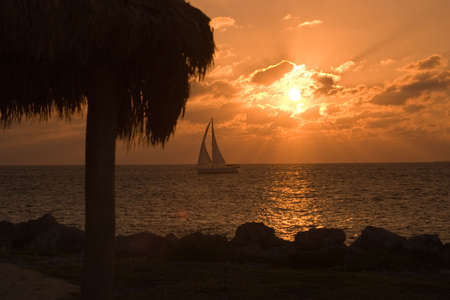 Key West sunset at Ft Zachary Park photo