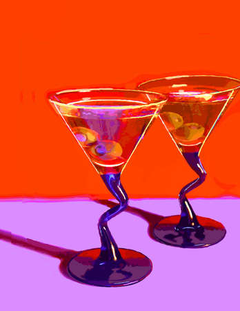 Vector_Two Martinis                             Ilustrace