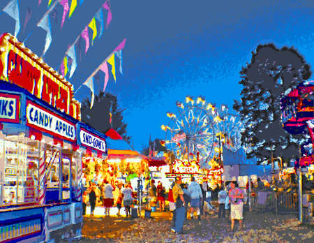 Fourth of July Carnival Midway