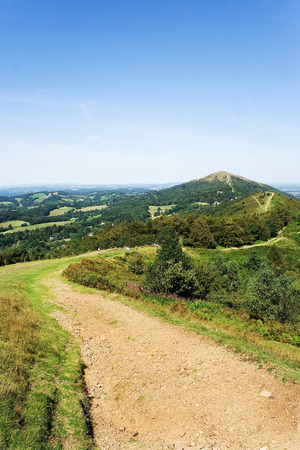 path running along the top of Malvern hills in the English midlands photo
