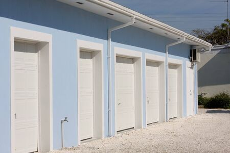storage units: line of new storage units  at resort complex in the Bahamas