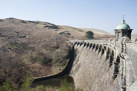 elan: Craig Goch dam in the Elan Valley in Wales