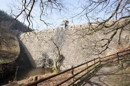 elan: Pen-y-garreg dam in the elan Valley in Wales Stock Photo
