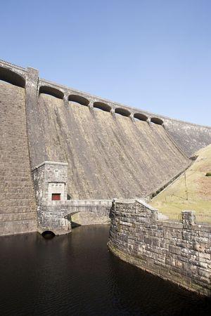 elan: Claerwen dam in the Elan Valley in Wales