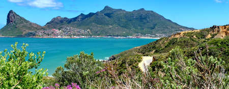 The Sentinel a peak at the mouth of Hout Bay, South Africa. Panoramic View