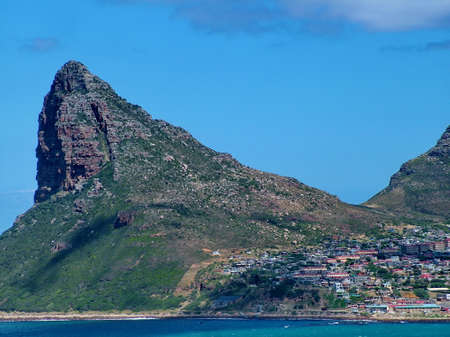 The Sentinel a peak at the mouth of Hout Bay, South Africa.