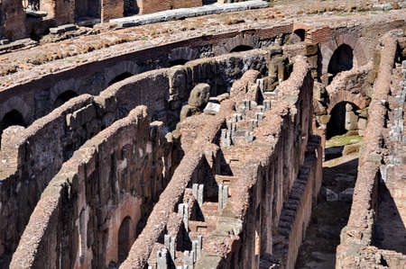Colosseum basement walls, Rome, Italy