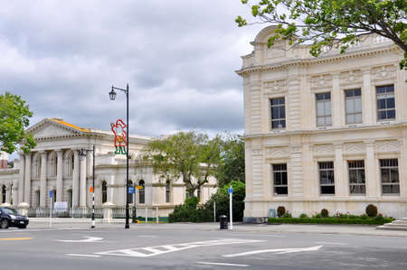 Oamaru, New Zealand, December 2, 2016: The Oamaru courthouse in the small southern coastal town of Oamaru, South Island, New Zealand.
