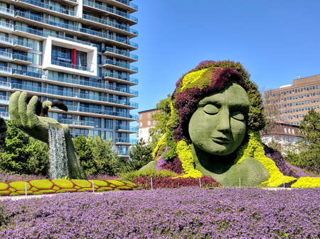 MosaiCulture 2018, Jacques Cartier Park, Gatineau, Quebec, Canada, 09132018, Mother Earth one of the 45 horticultural masterpieces showcased at Jacques-Cartier Park in Gatineau.