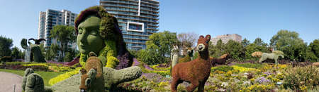 MosaiCulture 2018, Jacques Cartier Park, Gatineau, Quebec, Canada, 09/13/2018, Mother Earth one of the 45 horticultural masterpieces showcased at Jacques-Cartier Park in Gatineau. Imagens - 124827552